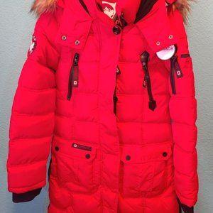 NWT Canada Weathergear Women's Parka Size S Red